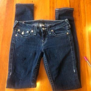 True Religion Crystal Pocket Jeans Size 28